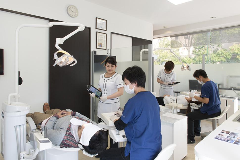 明石アップル歯科の受付