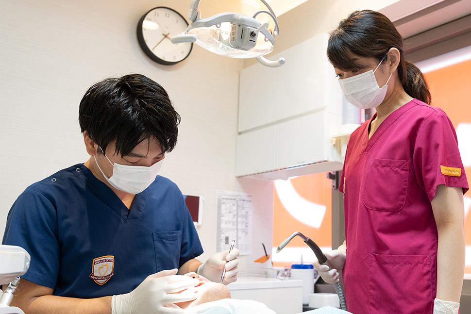 三宮アップル歯科の受付